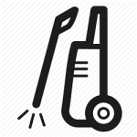 high pressure cleaning icon